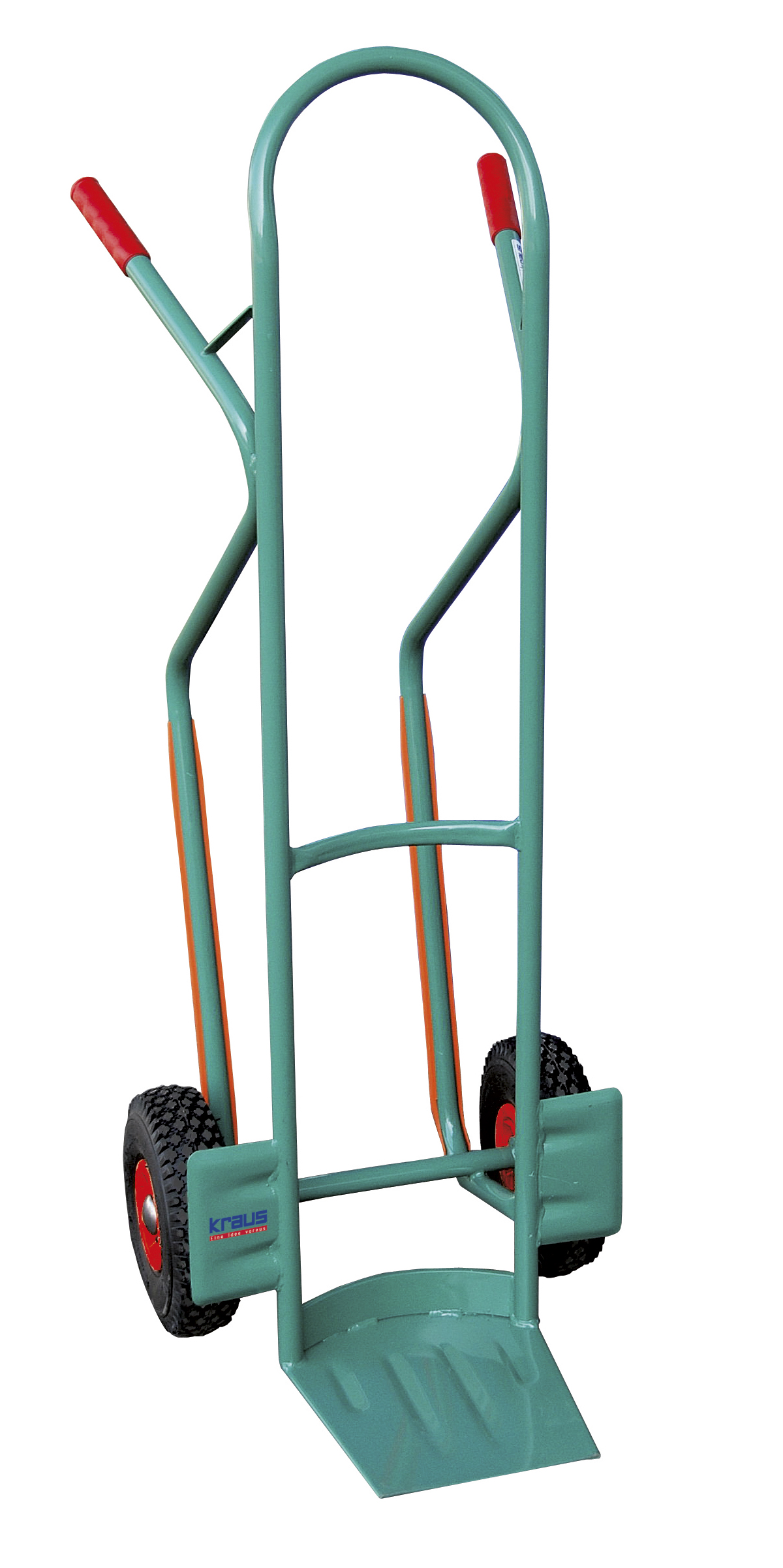 Steel tube crate trolley with wheel-slide protection