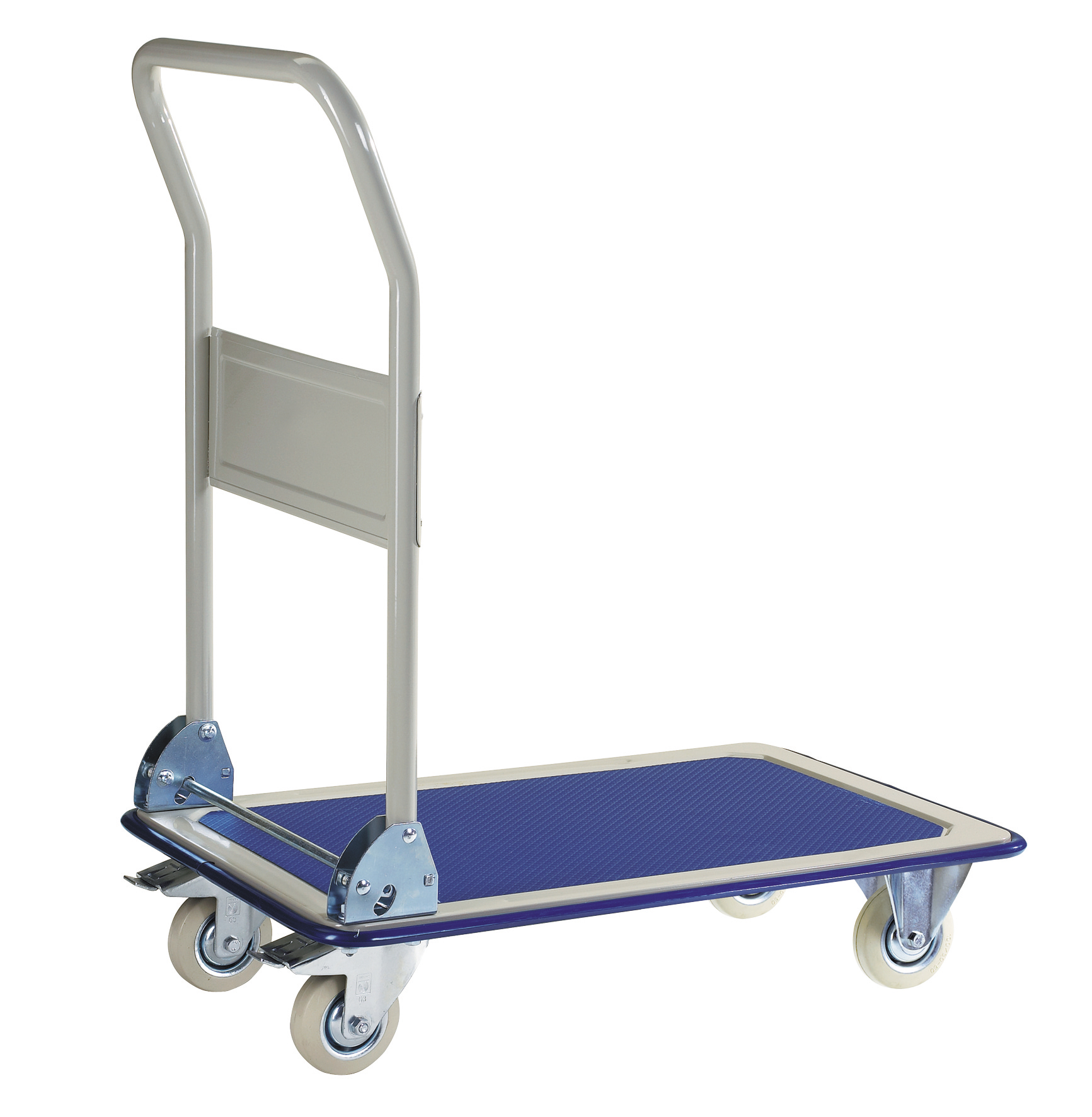 Foldable pushbar platform trolley