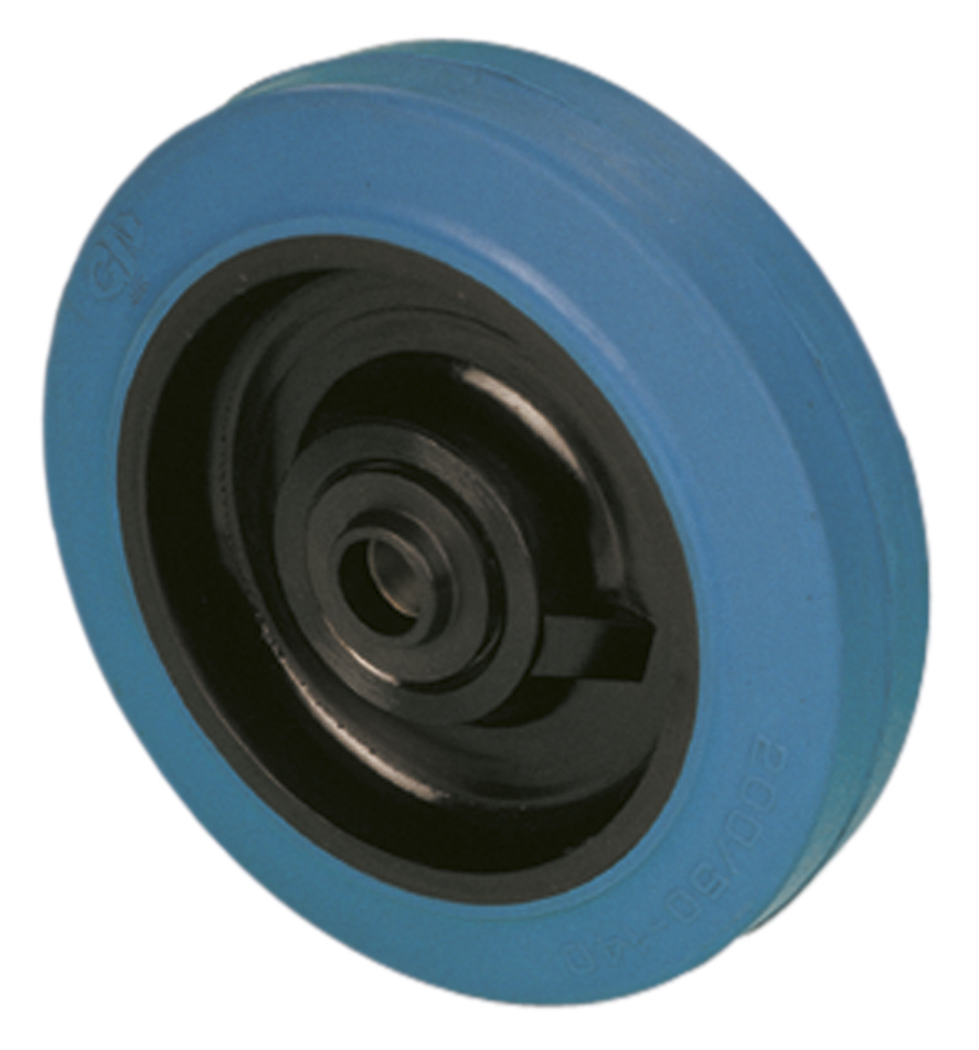 Solid rubber wheel model NG non-marking