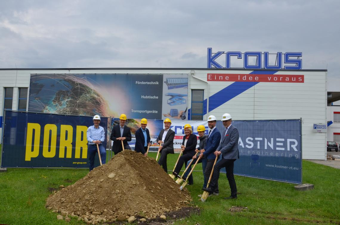 KRAUS Austria ground-breaking ceremony 2018